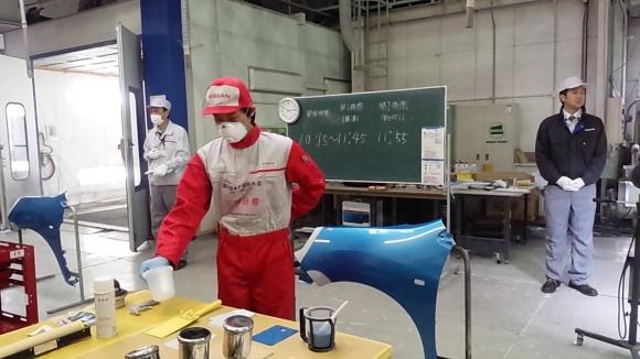 【総合優勝】三河日産 カーメイク岡崎 板金・塗装技術大会(近畿・中部地区)
